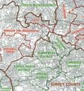 OS Administrative Boundary Map Local Government - Sheet 7 - Wales and West Midlands